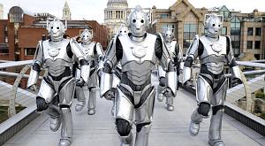 Doctor Who.  Отряд Киберлюдей захватил лондонское метро и центр города в рамах запуска.
