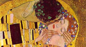 Фрагмент картины поцелуй густава